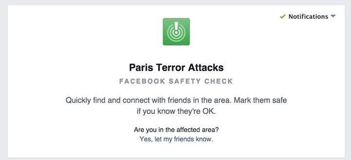 Paris Terror Attacks Facebook