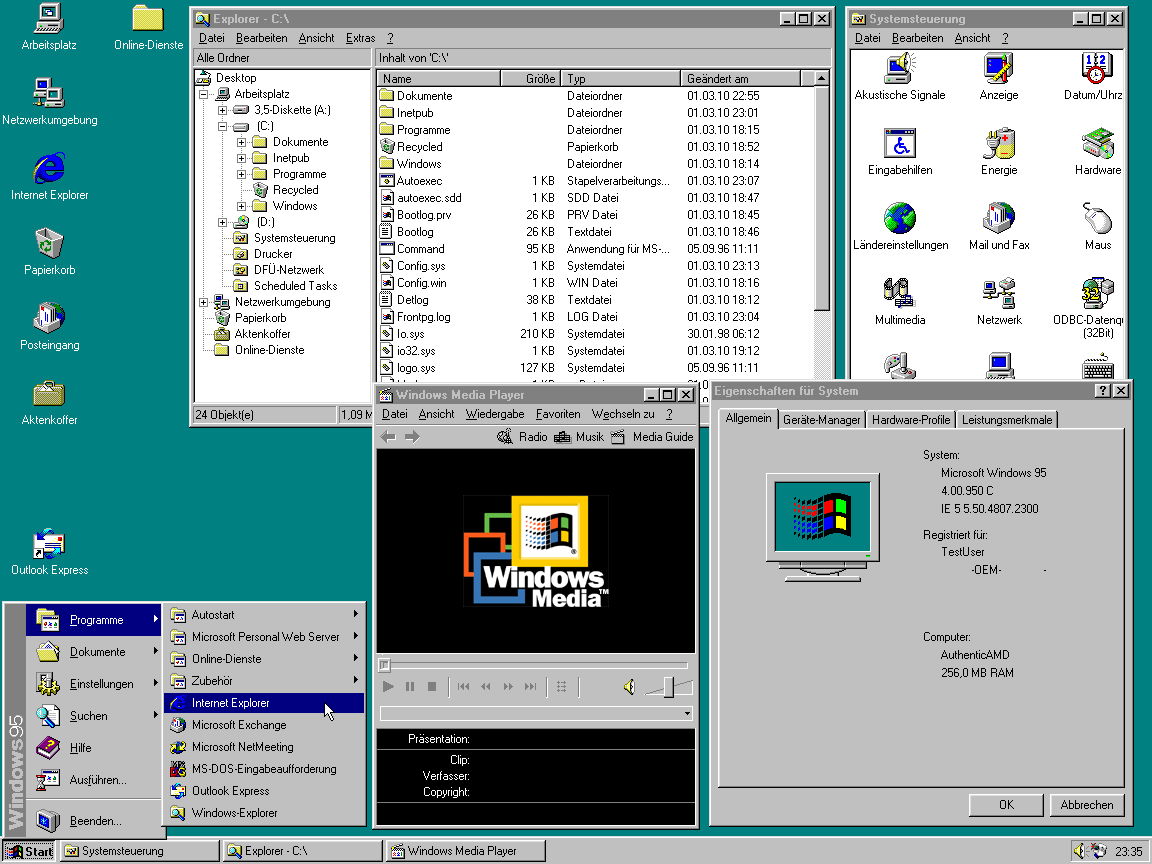 Windows_95_C_Startmenü_System_mit_allen_Updates_2010-03-01
