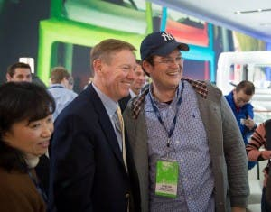 Mit Ford CEO Alan Mulally in Detroit