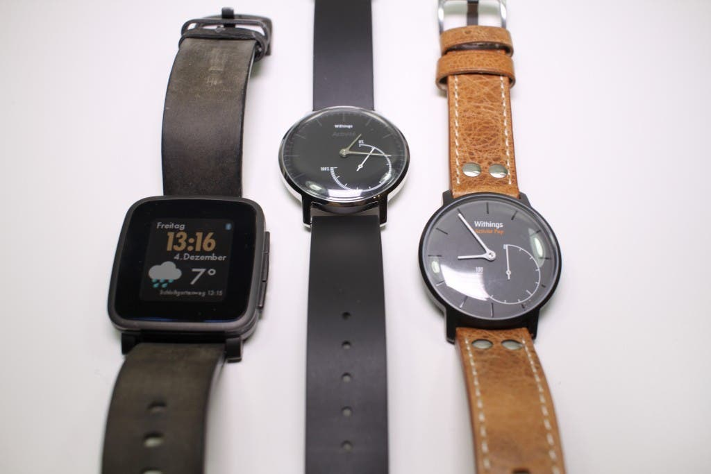 Pebble Time Steel, Withings Activité Steel, Withings Activité Pop