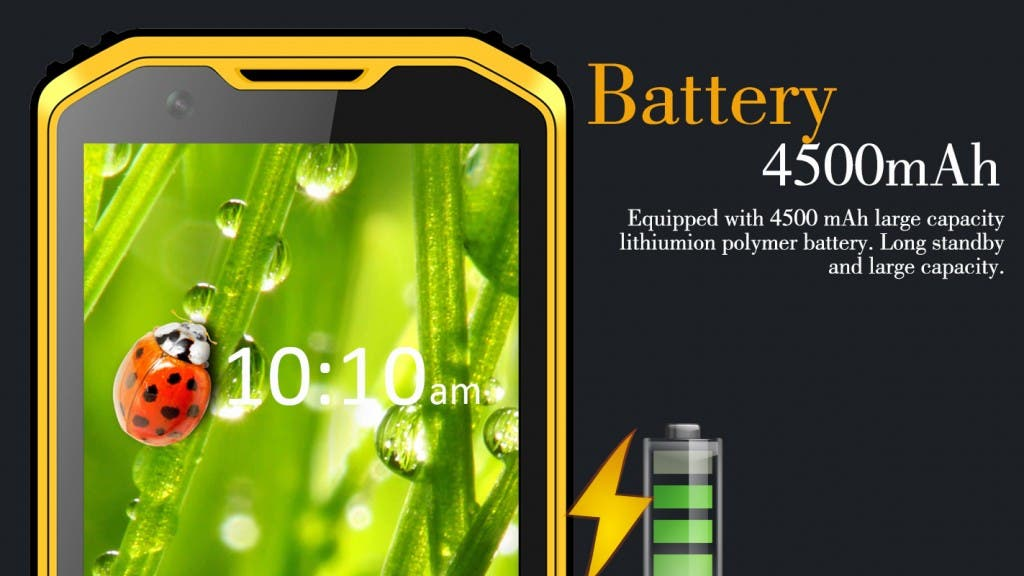 NO.1 x2i rugged Smartphone 4500 mAh Akku