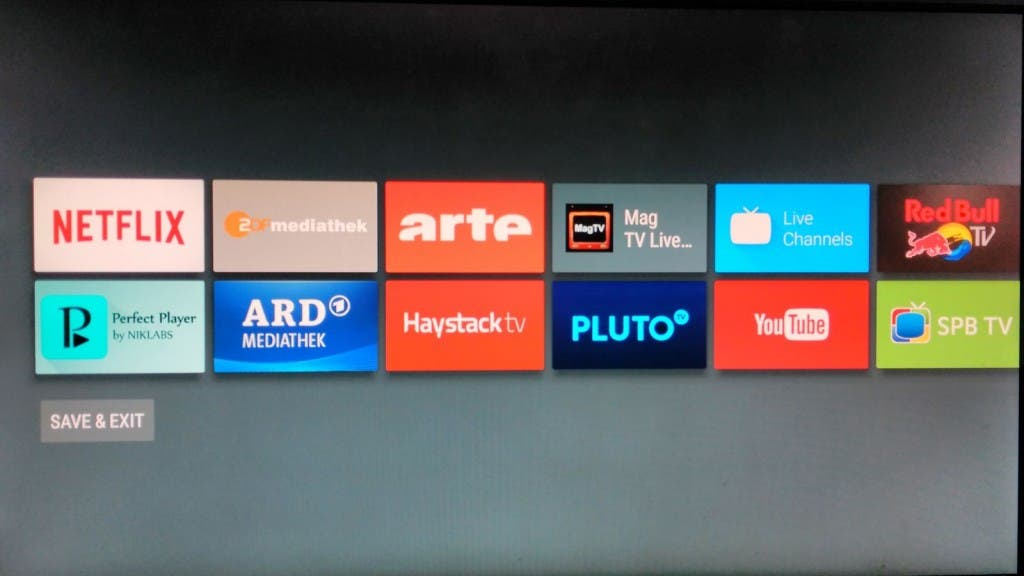 Android TV Homescreen 4