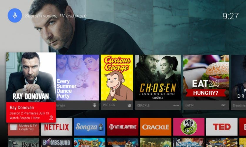 Android TV Homescreen