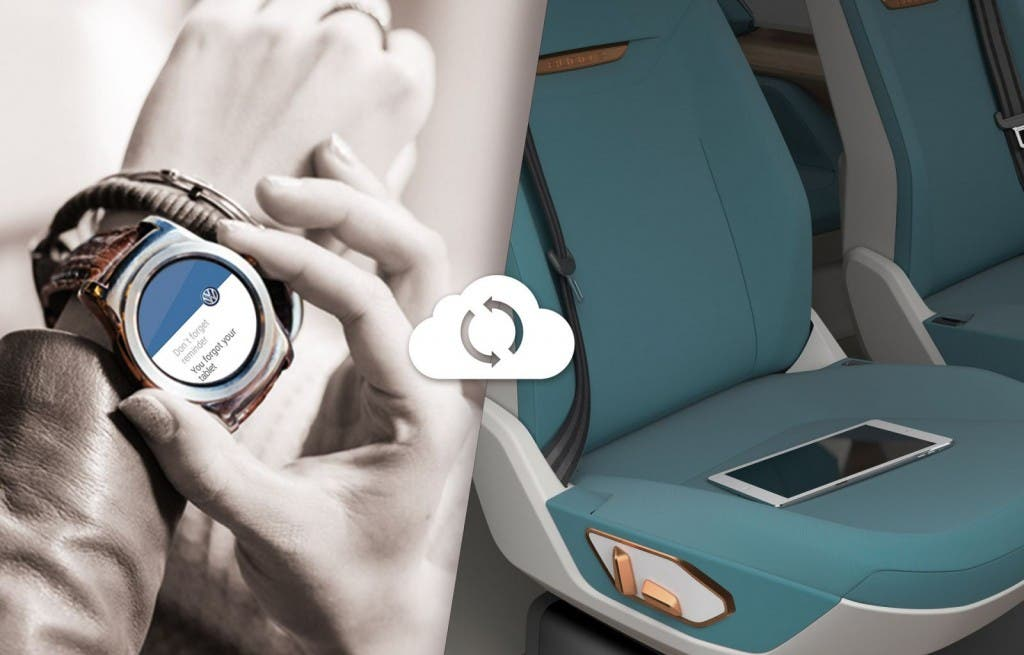Volkswagen BUDD-e Bedienung mit Smart Watch