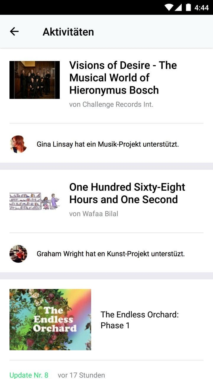 Kickstarter app fuer android endlich mobiles crowdfunding - Android app ideen ...