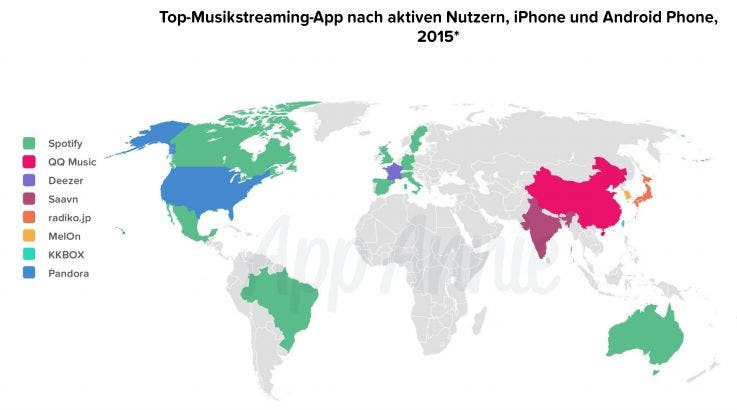 Top-Musikstreaming-Apps nach Nutzern