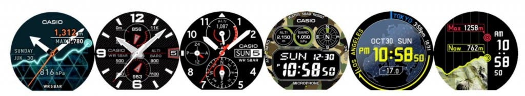 Casio WSD-F10 Watchfaces