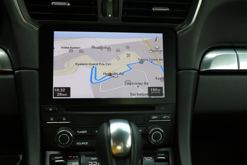 Navigation im Porsche 911 Turbo S
