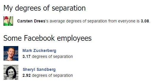 Facebook Degrees of Separation