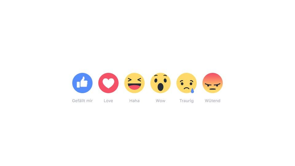 Facebook Reactions Deutsch