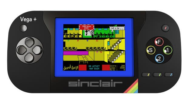 Sinclair ZX Spectrum Vega+ mit aktivem Display