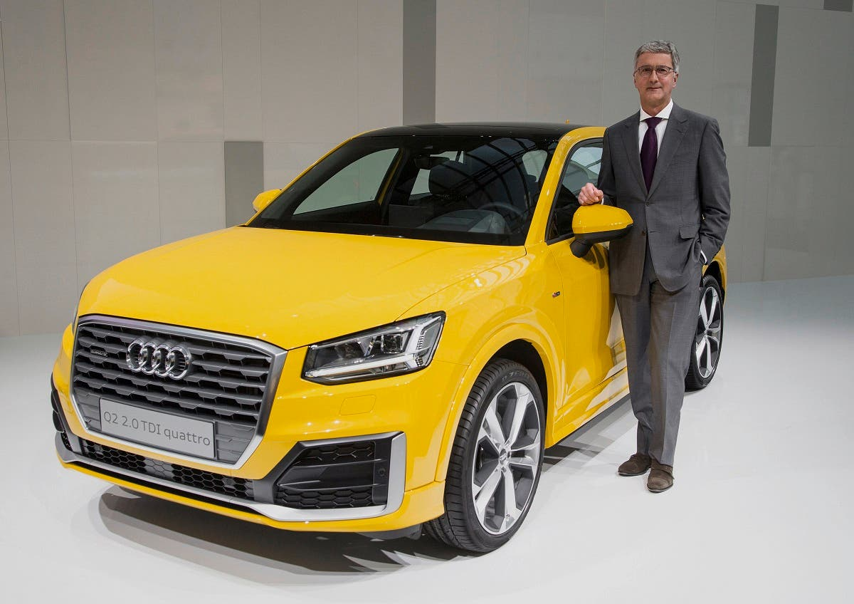 Prof. Rupert Stadler, Chairman of the Board of Management of AUDI AG, in front of the new Audi Q2.
