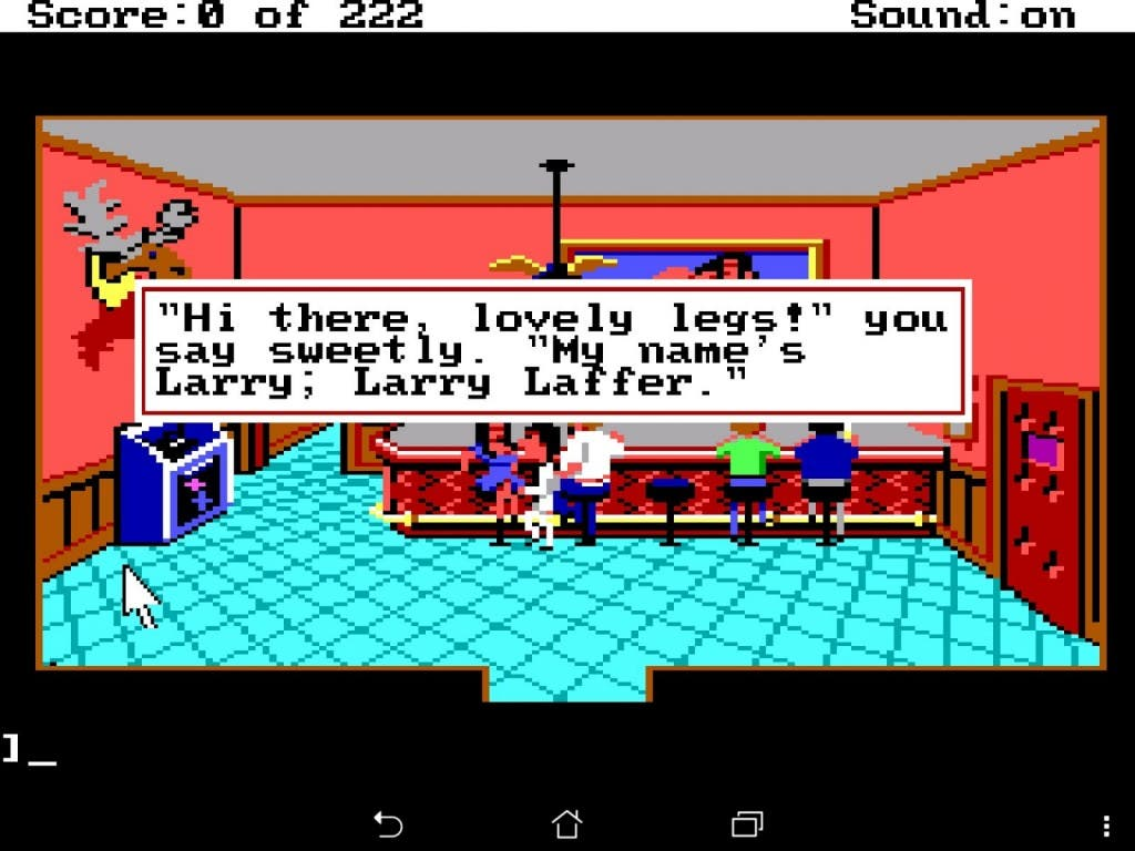 Larry ScummVM Screenshot