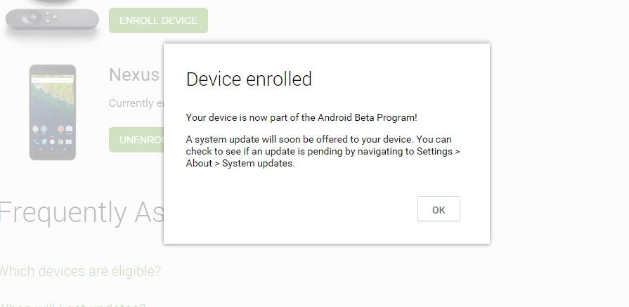 Nexus Android Beta Program Enroll