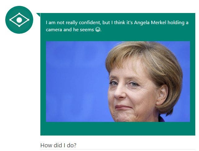 Captionbot Merkel