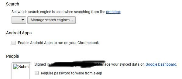 Enable Android Apps on Chromebooks