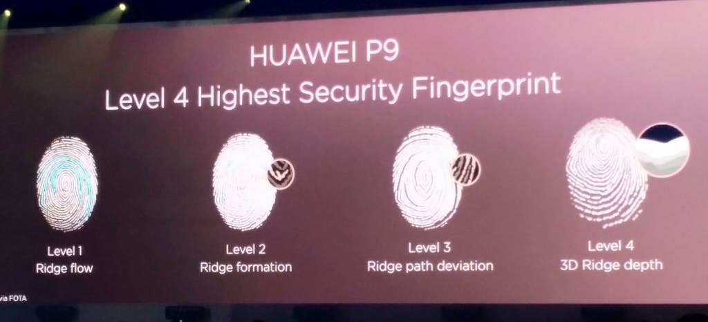 Huawei P9 Presse-Event Fingerprint-Reader