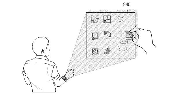 samsung-smartwatch-projector-patent 2