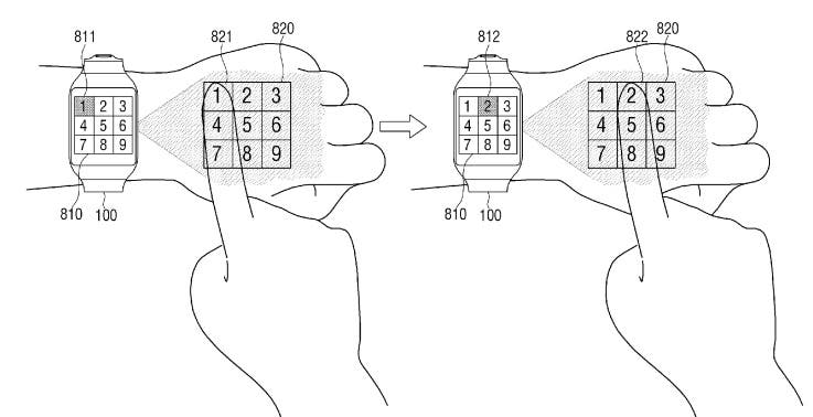 samsung-smartwatch-projector-patent 3