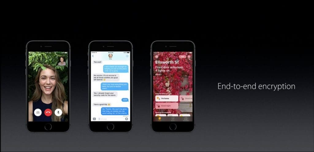 Apple WWDC16 End-to-end encryption