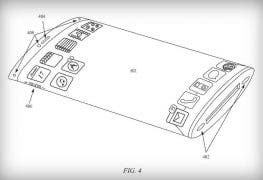 patent apple wrap arround screen