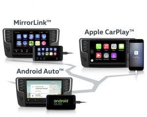 Volkswagen App Connect mit Mirror Link Apple CarPlay und Android Auto