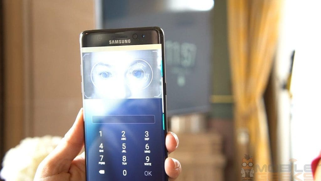 Galaxy Note7 Iris-Scanner