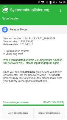 Umi_Plus_Nougat_Update