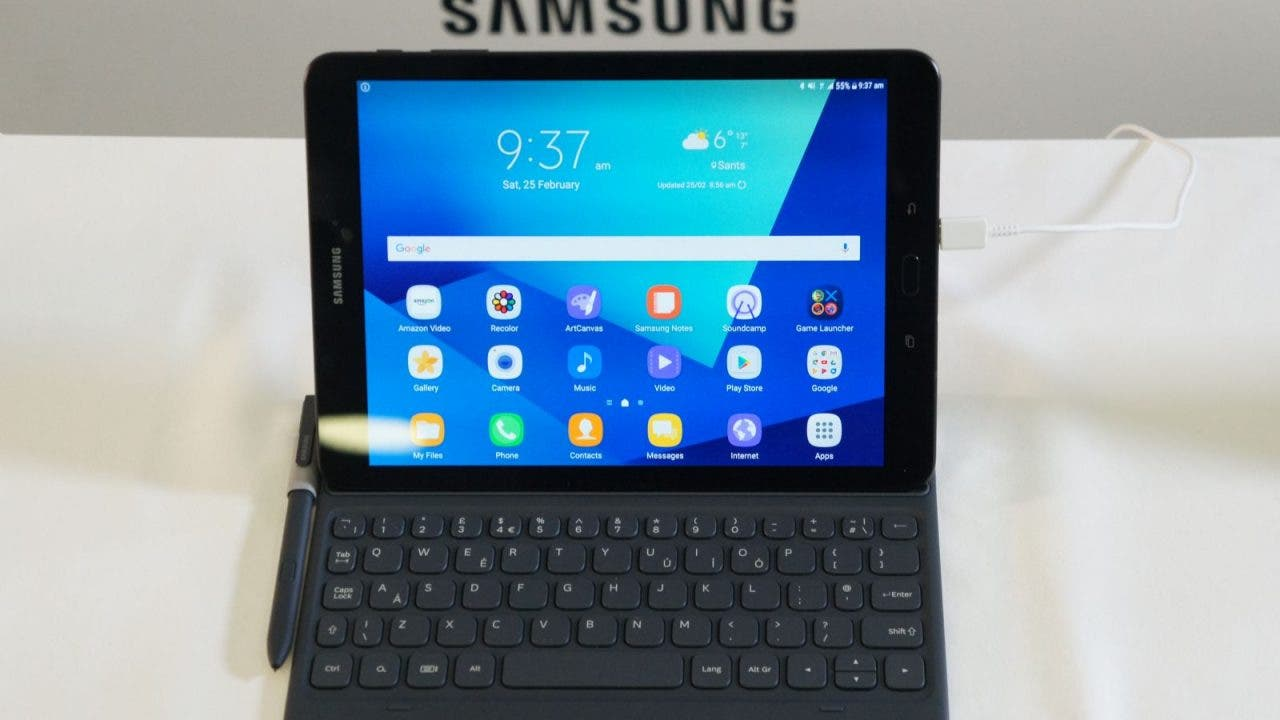 samsung galaxy tab s3 im hands on schickes android tablet. Black Bedroom Furniture Sets. Home Design Ideas
