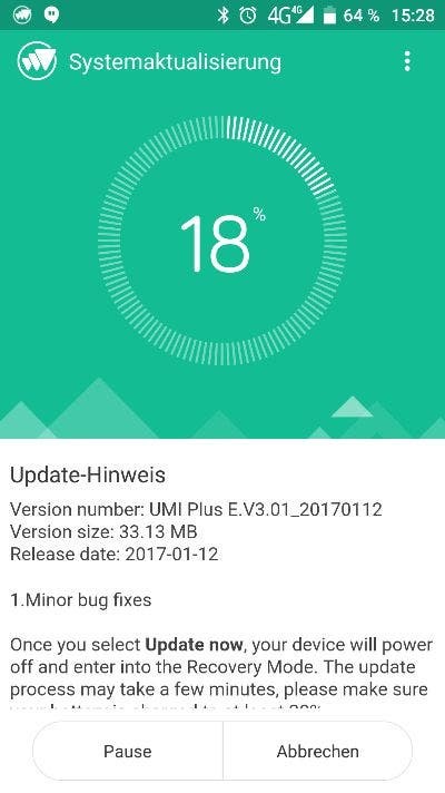 Umi Plus E OTA Update 2