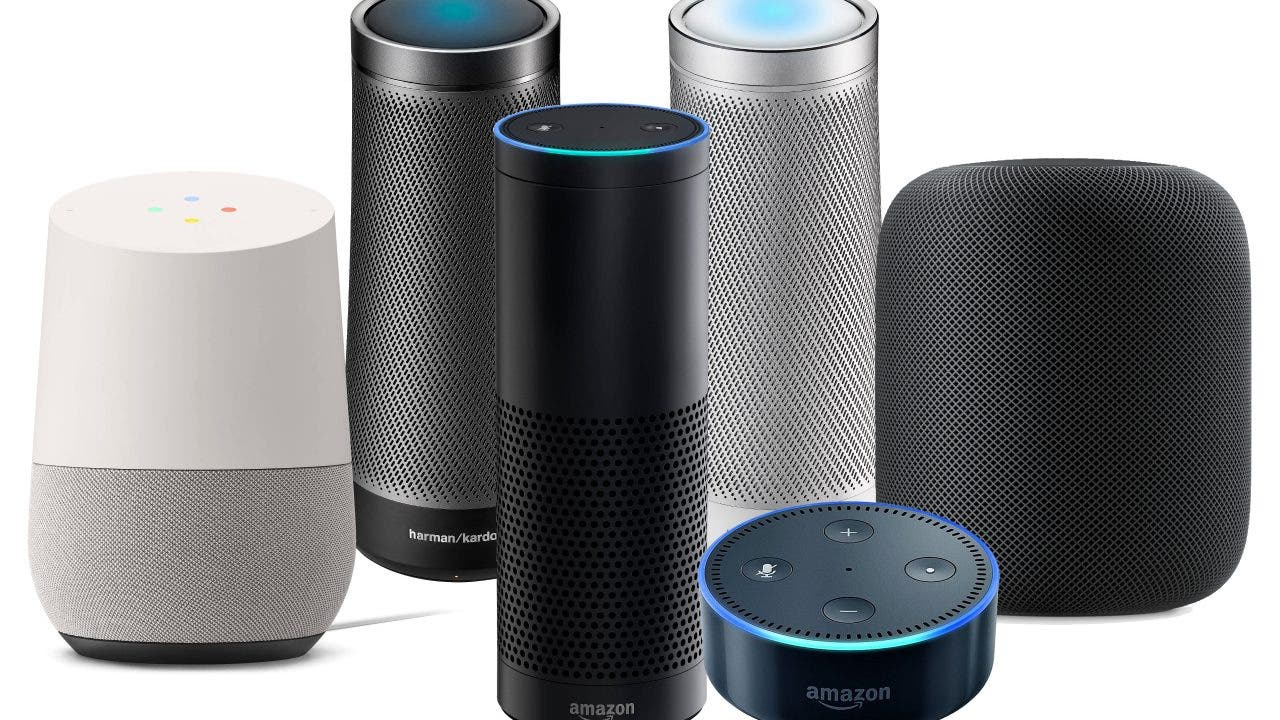 vergleich amazon echo vs apple homepod vs google home vs microsoft invoke wer macht das. Black Bedroom Furniture Sets. Home Design Ideas