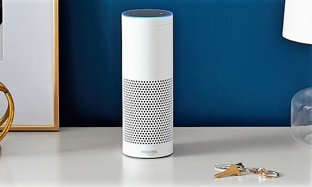 Weißes Amazon Echo
