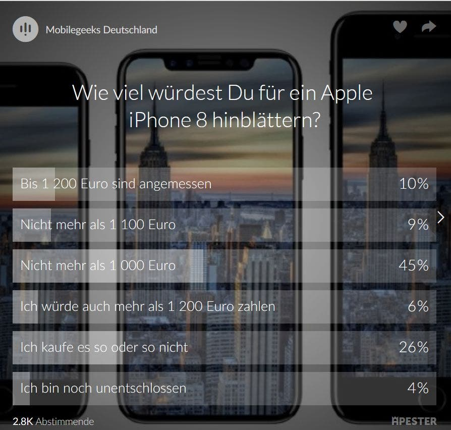 IPhone 8: Viel teurer als iPhone 7?
