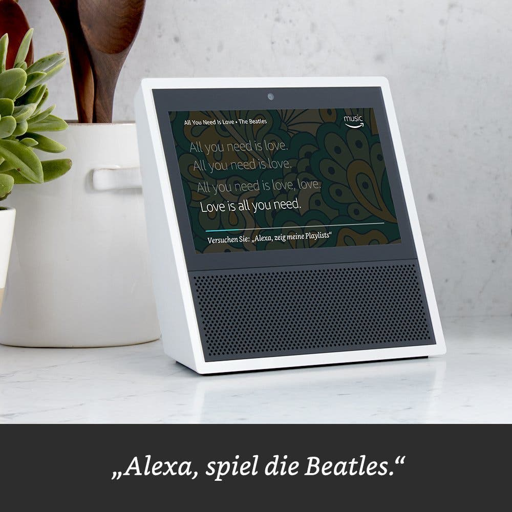 Amazon Echo Show zeigt Lyrics zu Lieder nan