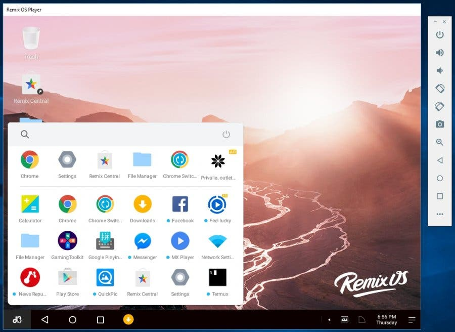 Screenshot Remix OS Player
