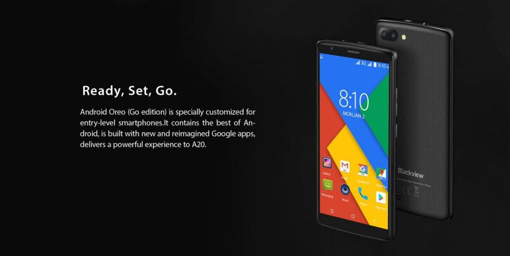 blackview a20 android go phone mit dual cam f r weniger. Black Bedroom Furniture Sets. Home Design Ideas