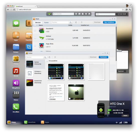 AirDroid - Android im Zugriff per Browser