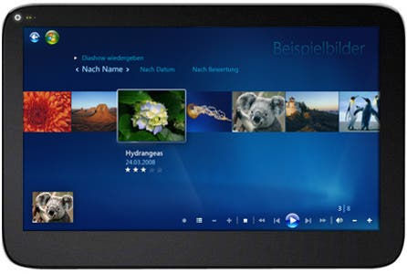 Windows Media Center Tablet