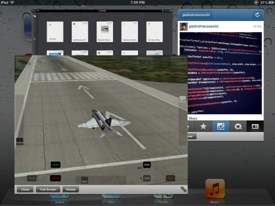 Quasar: Fenstermanager für iPad - Screenshot